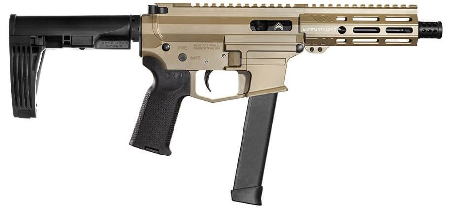 Angstadt Arms UDP-9 Billet Aluminum AR Pistol FDE 9mm 6