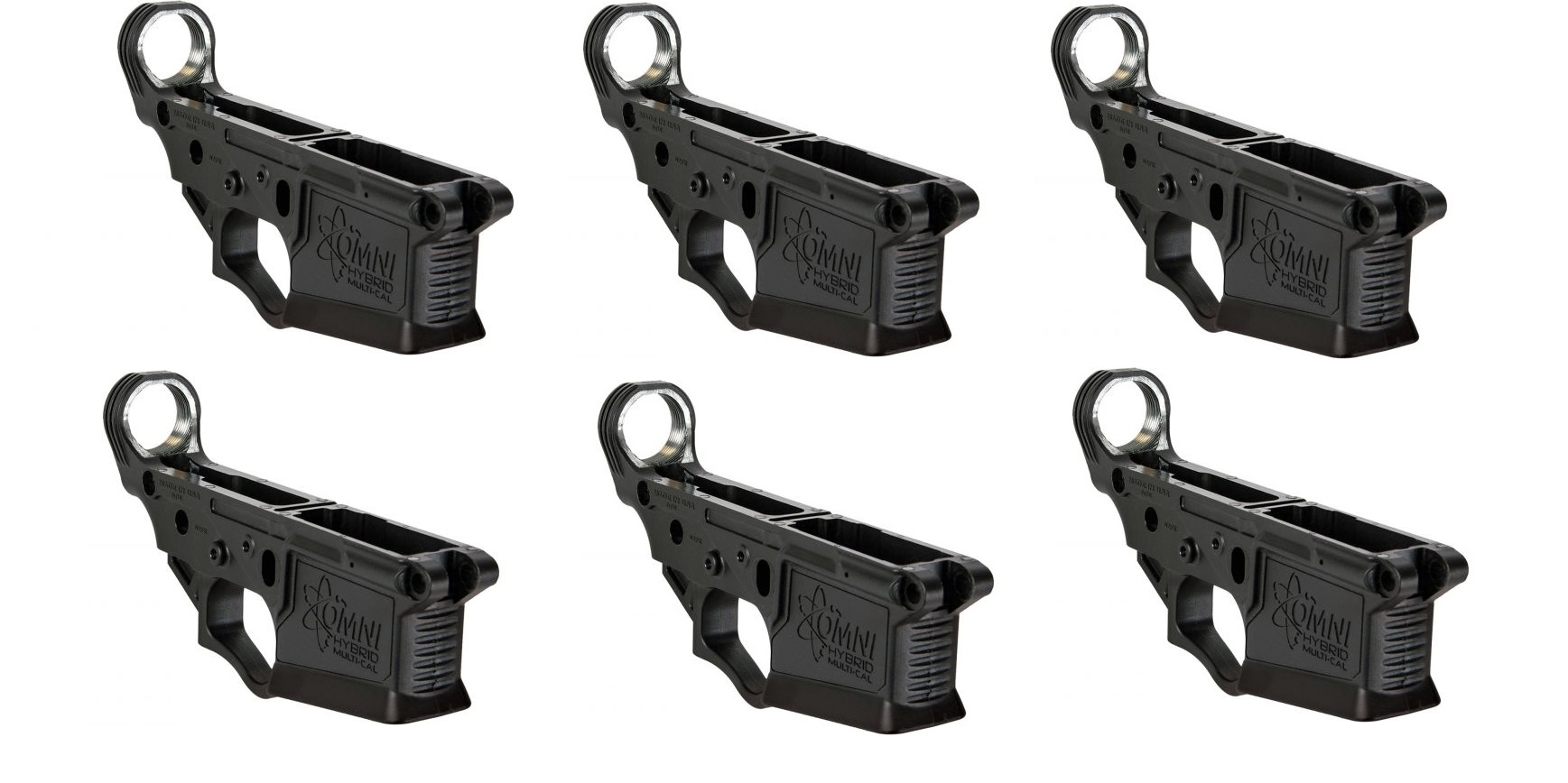 American Tactical ATI Omni Hybrid Polymer Multi Cal Stripped AR-15 Lower  Receiver 6 PACK - SALE!