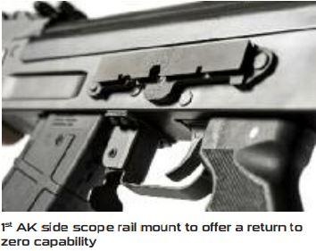 Century C39v2 Milled 7 62x39 AK-47 Rifle WITH NEW SIDE SCOPE RAIL MOUNT &  Walnut furniture (1) 30rd mag RI2398-N