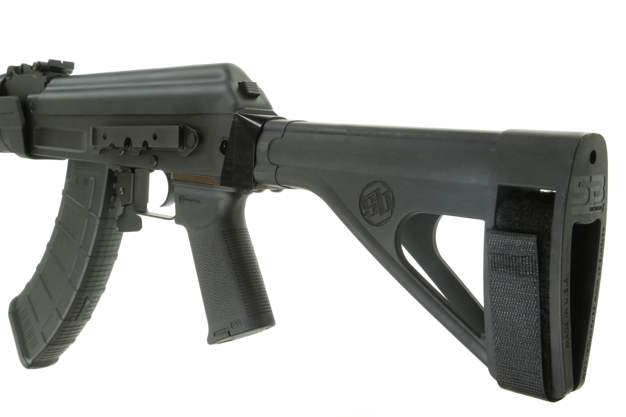Century C39V2 7 62x39 AK Pistol 10 6'' barrel w/ Magpul MOE Grip, MOE  Handguard & installed SB Tactical SOB47 Arm Brace (1) 30rd mag