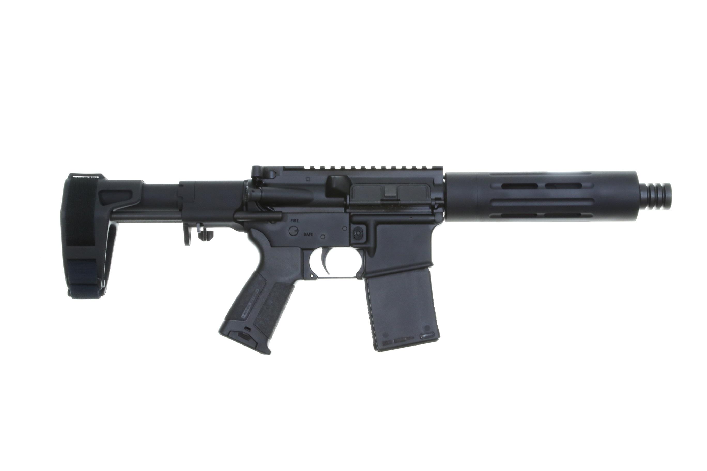 del ton ar 15 pistol 30rd black sb tactical pdw. Black Bedroom Furniture Sets. Home Design Ideas