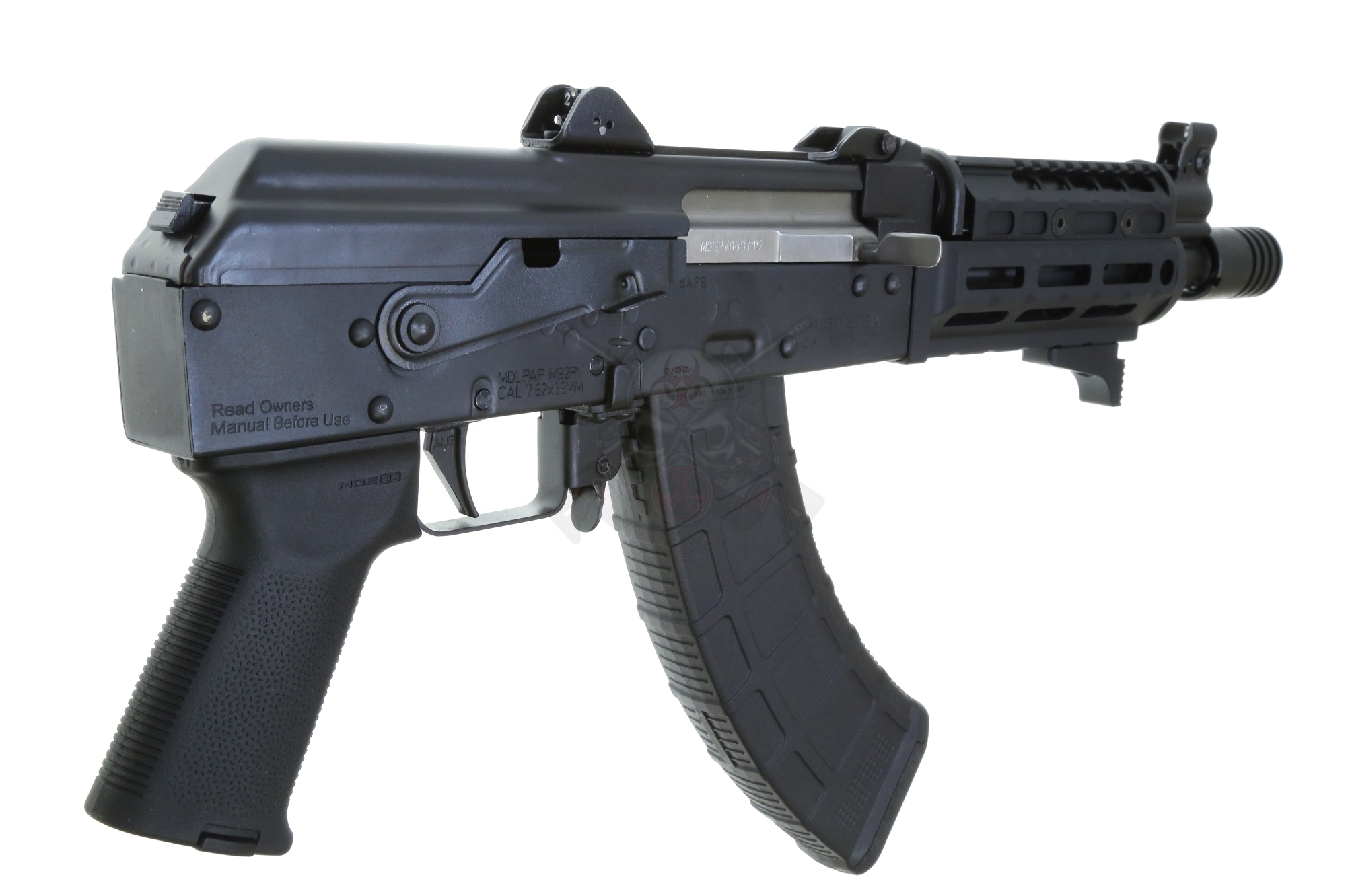 Prepper Custom ELITE PAP M92 AK Pistol 7 62x29 w/ SB Tactical SOB47 brace  (1) 30rd Pmag