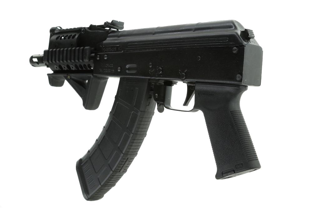 PREPPER CUSTOM Romanian Mini Draco AK-47 pistol 7 62x39 w/ installed MI  Quad rail, Magpul AFG2, Magpul pistol grip, Krebs safety, MI Flash hider &  ALG